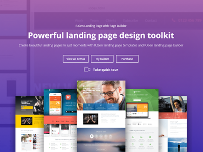 Landing Page Toolkit web visual design ui product page landing page clean