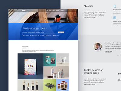 Moxa Digital Agency site business creative portfolio showcase onepage r.gen rgen landing page web