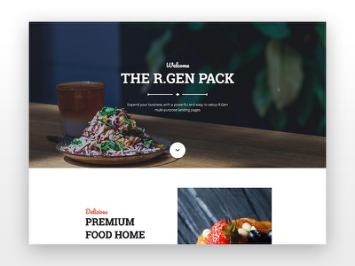 Creative Restaurant light theme one page web design one page website web clean creative restaurant restaurant website agency rgen landing page modern one page