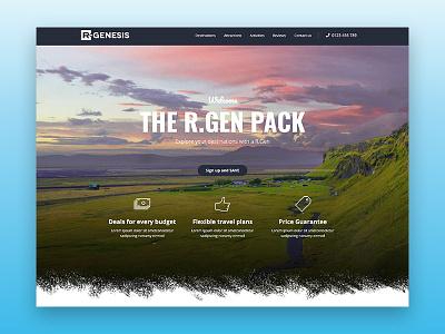 Travel Web UI Design webdesign ui  ux design travel agency travel rgen landing page creative modern clean web one page