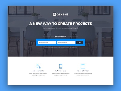 Landing Page lead page agency rgen creative landing page modern clean web one page