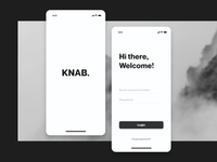 Login screen for a banking mobile app