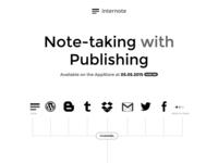 Internote Landing page