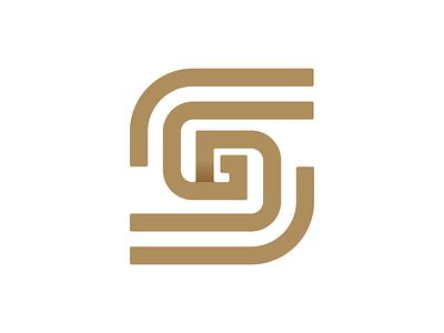 SG icons real estate construction logodesign lettermark letter icon symbol icon logo design golden corporate symbol monoline monogram modern gold logo branding design illustrator