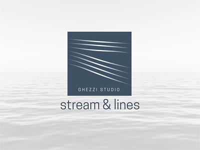 Ghezzi Studio wave designer contemporary sea design studio arhitecture minimal modern lines illustrator branding vector illustration logodesign logo design logo design studio yachting yacht