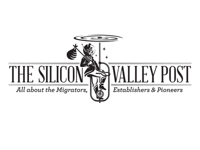 The Silicon Valley Post digital brand design design gentleman space tech logo technology monochrome black mascot logo mascot mark idenity tech newspaper silicon valley logo design characterdesign character logo