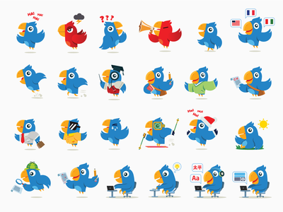 Lingidoo Character/Mascot designs language school language app parrot bird brand mascot character mascot mascot character mascotlogo mascot design vector branding flat procreate illustration art 2d art character design characterdesign illustration illustrator