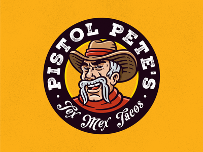 Pistol Pete's Tex Mex Tacos adobe illustrator brand design brand identity design fastfood cowboy tacos branding logo 2d art character design illustration illustrator mascotlogo mascot character mascot design mascot logo mascot character characterdesign