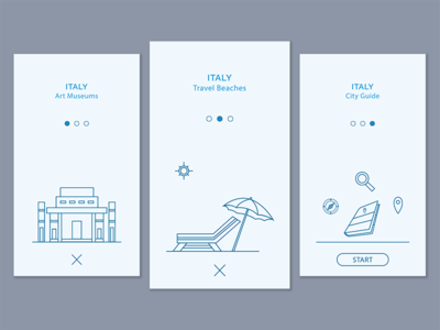 Debut - Onboarding Screen design app design travel icons line icon app android ios onboarding screen