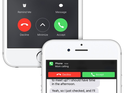 Improving the iOS incoming-call screen call screen phone call iphone concept ios