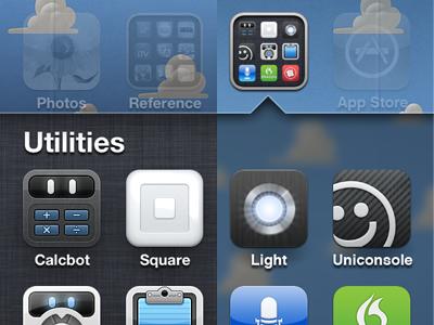 iPhone Folder Concept iphone ios concept