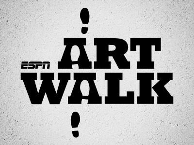 ESPN Art Walk logo art walk espn