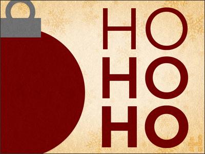 Holiday Card 1/2 holiday card ornament gotham ho ho ho hred