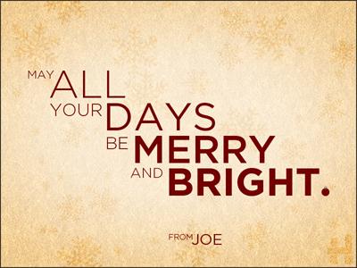 Holiday Card 2/2 holiday card snowflake merry bright gotham hred