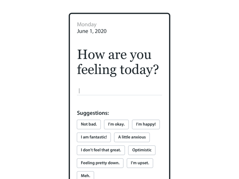 Emotional Check-In sketch typing mobile ux emotion
