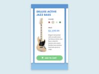 UI Experiment: Guitar Cards
