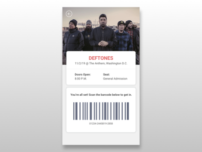 Mobile Concert Ticket Concept