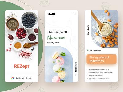 Rezept - The recipe app button android app ios macaron icon restaurant cooking food app food recipe app design ux vector minimal ui exploration art illustration color design