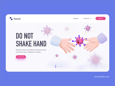 Do not shake hand social distancing creative visual button vector art do not shake hand do not shake hand covid19 coronavirus virus hero website vector ui minimal exploration art illustration color design