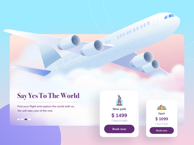 Tripit - Illustration new york online tourism travel card home booking flight aeroplane hero website ux ui vector minimal exploration art illustration color design