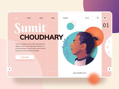 Profile sketch social icon avatars branding product designer dribbble profile hero website ux ui vector minimal exploration art illustration color design