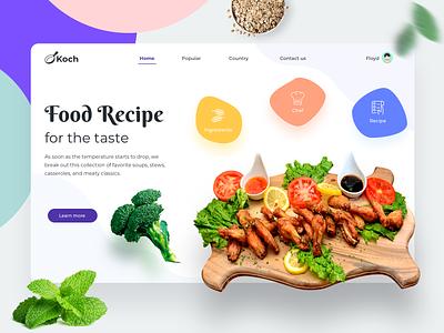 Food Recipe icons mobile app food drawing gradient chef recipes logo ux hero website ui vector minimal exploration art illustration color design