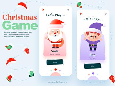 Toy Land app idea graphic ecommerce card screen elves toys santa ux hero website ui vector minimal exploration art illustration color design
