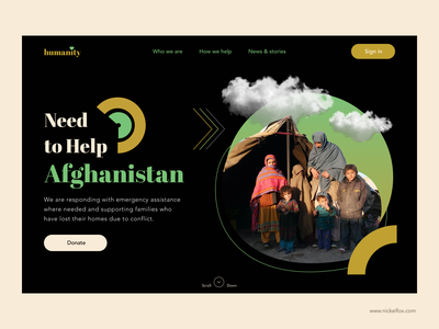 humanity - Web landing page web design trending afghanistan humanity ngo help donate charity website landing page heropage ux ui logo vector minimal art exploration color design