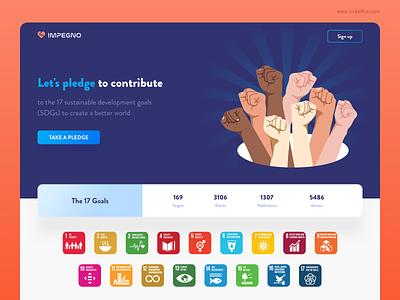 IMPEGNO Website interface layout ux trending web design web website hero page uiux pledge clean vector branding ui illustration minimal art exploration color design