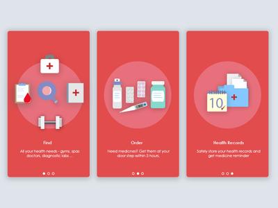 Debut - Onboarding Screen for Medico design onboarding screen ios android app design app icons