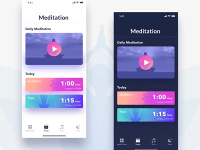 Bodhi Meditation App dailyui yoga minimal illustration exploration vector logo icons design color app design app meditation ux ui