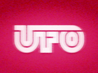 UFO ufos retrotype analog tv vhs industrial 80s 70s aliens logotype custom type thicklines thick lines ufo