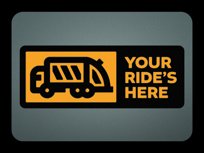 Your Ride's Here thick lines thicklines trash truck garbage