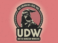 United Dungeon Workers Patch axe executioner prison jail torture medieval dungeon metal heavy metal death metal thrash labor union badge