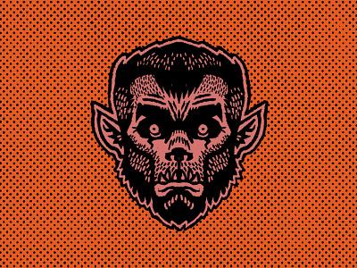 Werewolf patches monster mask halloween werewolf