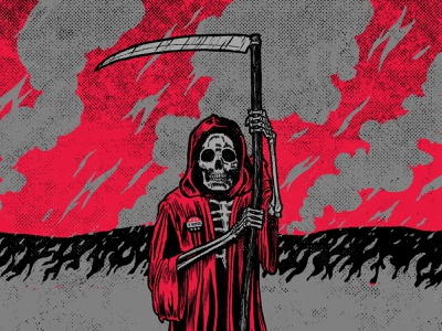 I Voted weekly warm-up comic book art procreate retro supply co smoke politics election horror climate change wildfires grim reaper