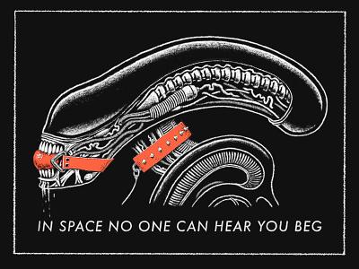 XXXenomorph illustration procreate kink bdsm bondage hr giger giger alien xenomorph