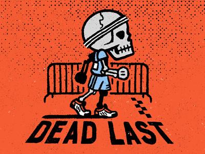 Dead Last loser run skeleton skull race last competition athlete running runner marathon