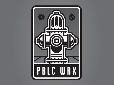 PBLC WRX badge thick lines municipality fire hydrant public works