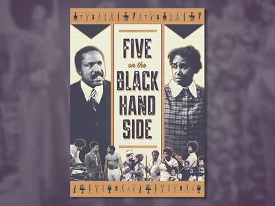 Five on the Black Hand Side (1973) barber shop collage 70s blaxploitation