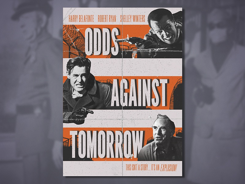 Odds Against Tomorrow (1959) refinery shootout explosion noir black  white robbery caper crime shelly winters harry belafonte