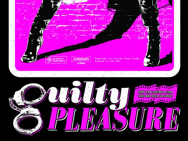 Guilty Pleasure type jail dominatrix leather boots garbage schlock trash cinema celluloid film g sleaze discipline cuffs