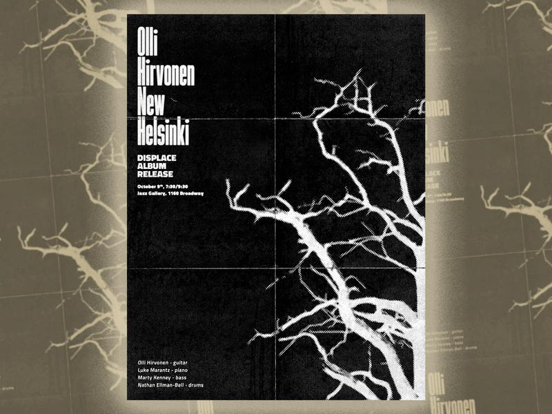 Olli Hirvonen New Helsinki flyer guitar copy machine toner photocopied collage xerox gig poster flyer jazz