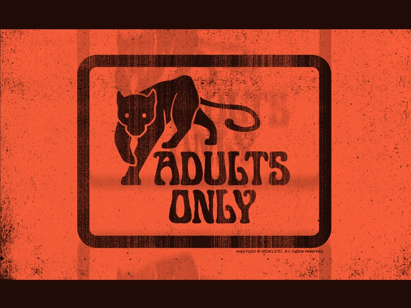 Adults Only jaguar porno b-movie celluloid film panther retro 70s sleaze grindhouse adults only