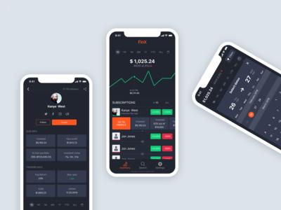 Financial APP (iPhone X)