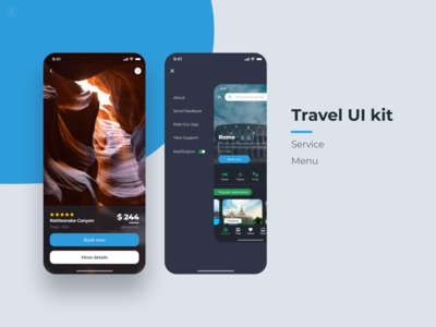 Travel UI kit (pages)