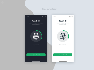 Touch id (iOS) ios freebie free mobile app design iphone x touch id touchid mobile app ui clean