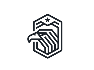 Eagle Logo finance logistics weapons security linear geometric technological processor buzzard hexagon sport falcon technology hawk hunter predator emblem logo bird eagle
