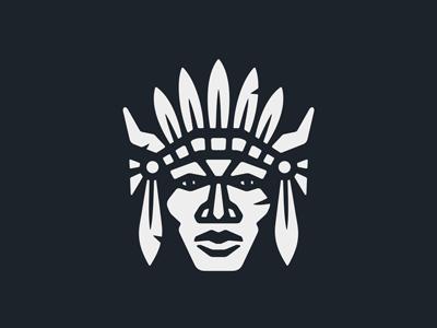 Great Warrior Logo historical tourism security sports sign tracker hunter ethnic man hero mascot emblem logo mask head chief fighter leader warrior indian