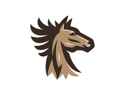 Horse Logo thoroughbred arabic wildlife team sport consulting finance emblem logo riding horsemanship wild beast animal mane head steed stallion mustang horse